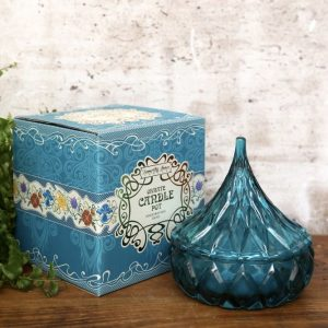 Blue Moroccan Candle