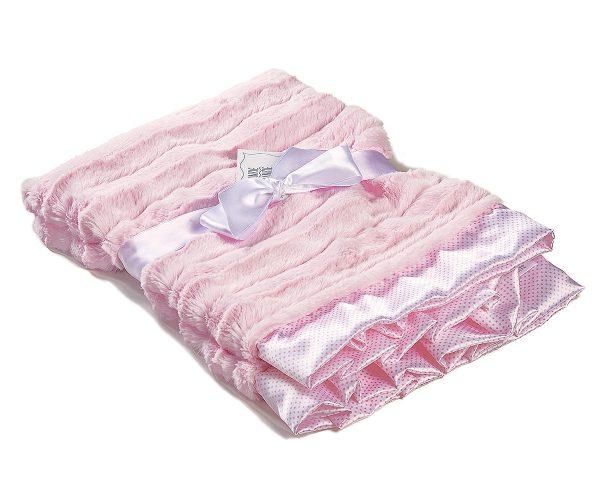 Luxury Pink Baby Receiving Blanket