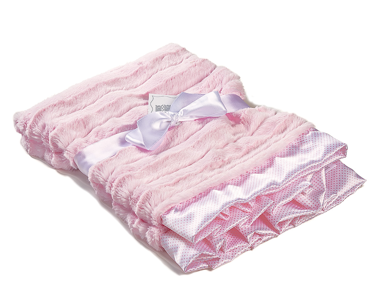 Luxury Pink Baby Receiving Blanket