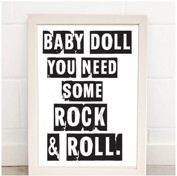 Baby Doll A3 Print