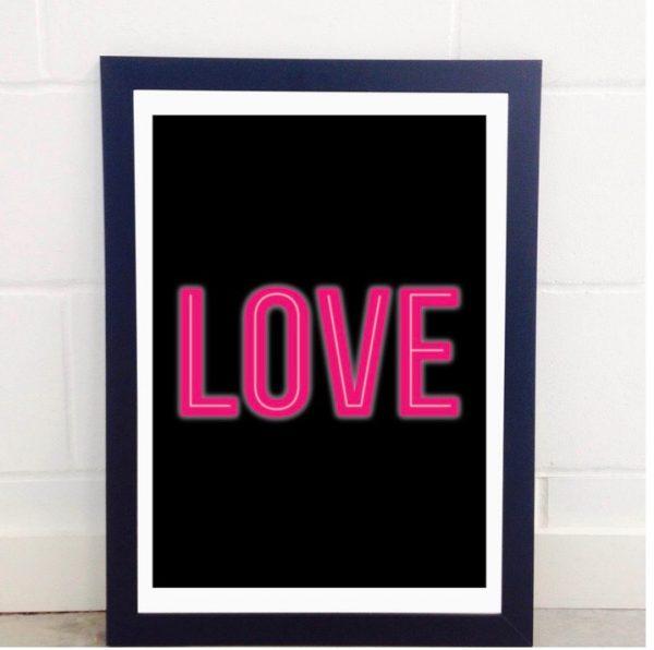 Neon Love A3 Print